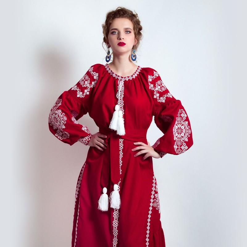 Сукня вишиванка «Малиновий смак» 9fc17a68996c3