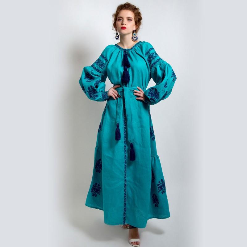 Сукня вишиванка «Морський вітер» 1a8bf22e8a48a