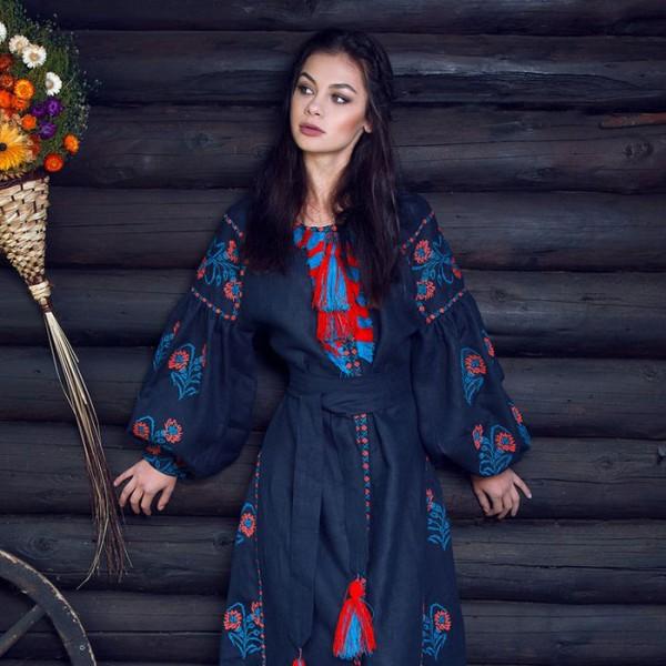 Сукня вишиванка «Темна ніч»