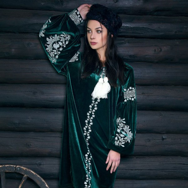 """Вишиване плаття """"Зелений шик"""""""